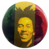 Bob Marley - 'Hair' 56mm Badge